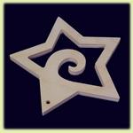 Звезда - праздничное украшение (071)