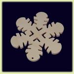 Снежинка - праздничное украшение (001)