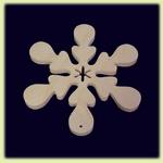Снежинка - праздничное украшение (002)