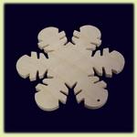 Снежинка - праздничное украшение  (004)