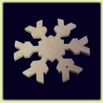 Снежинка - праздничное украшение  (006)