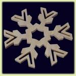 Снежинка большая - праздничное украшение (007)