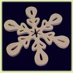 Снежинка большая - праздничное украшение (008)