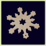 Снежинка - праздничное украшение (009)
