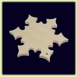 Снежинка - праздничное украшение (011)