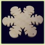 Снежинка большая - праздничное украшение (014)